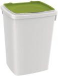 Ferplast voedselopslag Feedy 13 liter wit/groen