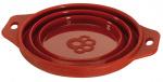 Ferplast voer- en drinkbak 14 x 6,5 cm siliconen 500 ml rood
