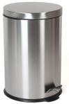 Gerimport afvalemmer 32 x 39 cm RVS zilver 12 liter