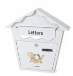 Gerimport brievenbus 36 x 10 x 36 cm staal wit