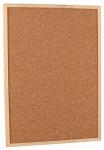 Gerimport prikbord 40 x 60 cm kurk/hout bruin