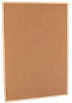 Gerimport prikbord 60 x 90 cm kurk/hout bruin