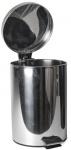 Gerimport prullenbak pedaal 31 x 38 cm RVS zilver 12 liter