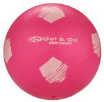 Get & Go voetbal 21 cm PVC fluorroze