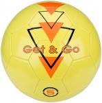 Get & Go Voetbal Triangle Speed PVC leder fluorgeel