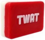 Giggle Beaver zeep Twat Face 9,5 x 6,5 x 2 cm rood/wit