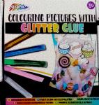 Grafix kleurset Glitter Glue junior papier/lijm 6-delig