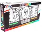 Grafix kleurset LOL junior waskrijt/canvas 4-delig