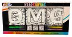 Grafix kleurset OMG junior waskrijt/canvas