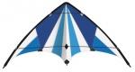 Günther tweelijnsstuntvlieger Blue Loop 130 cm blauw/wit
