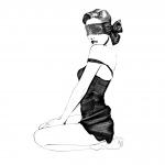 Happy Lola blinddoek 20 cm polyester zwart