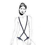 Happy Lola body straps dames polyester blauw one-size