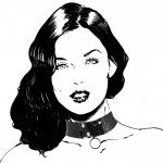 Happy Lola doll neck dames 120 x 4 cm polyester zwart
