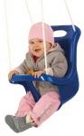 Happy People babyschommelzitje met touw 45 cm blauw