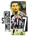 Imagicom muursticker Cristiano Ronaldo 23 cm