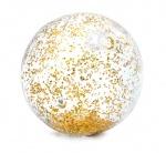 Intex strandbal Glitter 51 cm transparant goud
