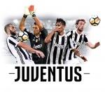 Juventus muursticker spelers 50 x 70 cm