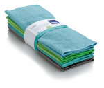 Kela doekjes Lou 30 x 30 cm microvezel blauw/groen 8 stuks