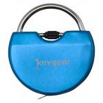 KeyGear sleutelhanger meetlint & mini-schroevendraaier 5 cm blauw