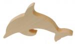 Kids At Work knutseldier dolfijn junior 12 cm hout bruin