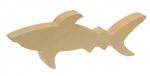 Kids At Work knutseldier haai junior 16 cm hout bruin