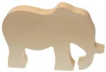 Kids At Work knutseldier olifant junior 15 cm hout bruin