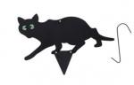 Kinzo kattenverjager lopende kat 28 x 35 cm staal zwart 4-delig