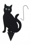 Kinzo kattenverjager zittende kat 28 x 35 cm staal zwart 4-delig