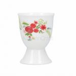 KitchenCraft eierdopje bloemen 12 x 17 x 22 cm porselein wit