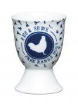 KitchenCraft eierdopje Blue Hen 17 x 22 cm porselein wit/blauw