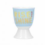 KitchenCraft eierdopje RIse & Shine 12 x 17 x 22 cm porselein blauw