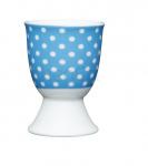 KitchenCraft eierdopje stippen 12 x 17 x 22 cm porselein blauw