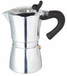 KitchenCraft espressomaker 300 ml staal zilver/transparant