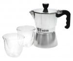 KitchenCraft espressomaker La Cafetière 180 ml aluminium zilver