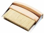 KitchenCraft stoffer en blik tafelblad 16 cm staal/hout zilver