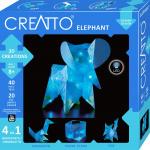 Kosmos knutselset Creatto Olifant junior blauw 60-delig