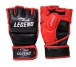 Legend Sports MMA-handschoenen met duim zwart/rood maat M