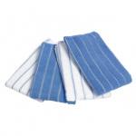 Lifetime Clean microvezeldoek 40 x 35 cm blauw/wit 4 stuks