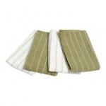 Lifetime Clean microvezeldoek 40 x 35 cm groen/wit 4 stuks