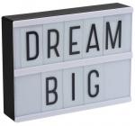 A Little Lovely Company lightbox led 20 cm PVC zwart 2-delig