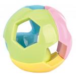 Luna rammelaar bal junior groen/geel/blauw/roze