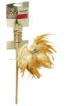 M-Pets kattenspeelhengel 35,5 cm hout/veren beige