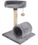 M-Pets krabpaal Erebus kattenboom 38 x 49 cm sisal/pluche grijs