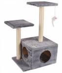 M-Pets kattenkrabpaal Ranak 43 x 70 cm sisal/pluche grijs