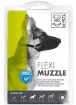M-Pets muilkorf hond 22-26 x 1,5 cm nylon zwart