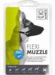 M-Pets muilkorf hond 18-20 x 1,5 cm nylon zwart