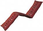 Madison ligbedkussen Lines 200 x 65 cm katoen/polyester rood