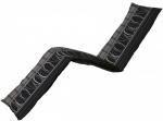Madison ligbedkussen Lines 200 x 65 cm katoen/polyester zwart