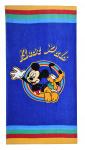 Disney badlaken Mickey & Pluto junior 70 x 140 cm katoen blauw