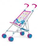 Milly Mally poppenwagen Julia Candy 54 cm roze/blauw